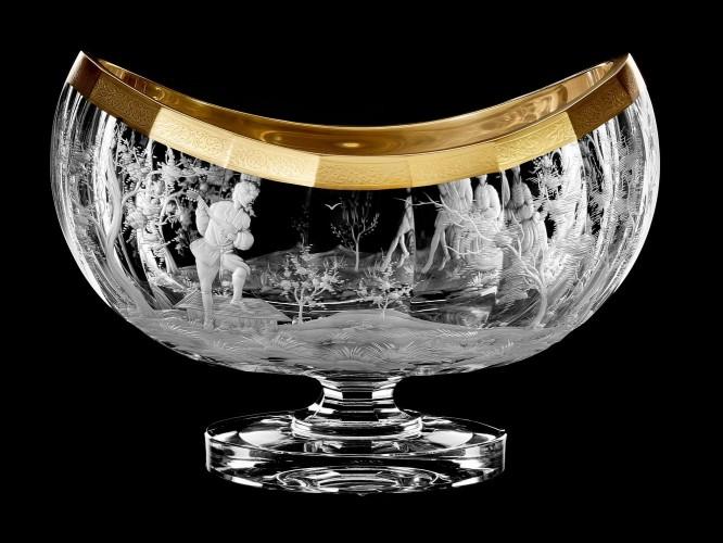 "Oval vase-bowl ""Musicians"", 23 cm"