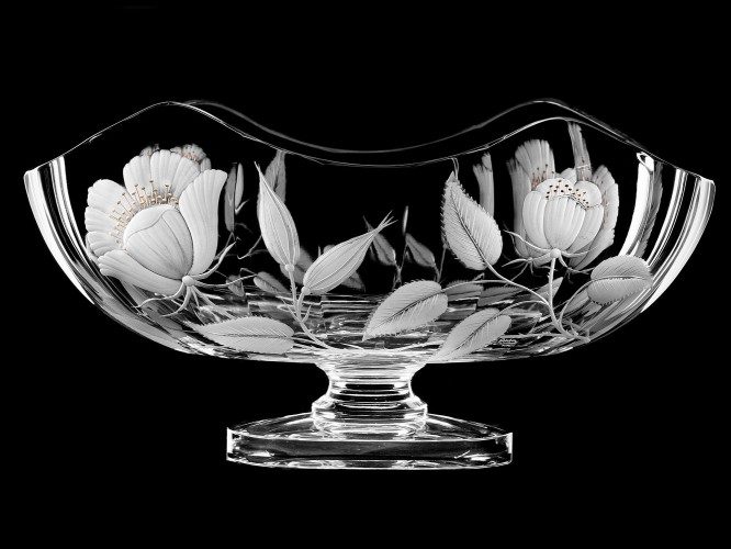 "Oval vase-bowl ""Flowers"", 23 cm"