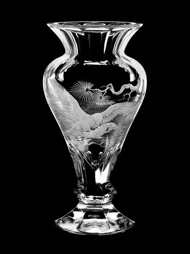 "Vase ""Aigle et brochet"", 26 cm"