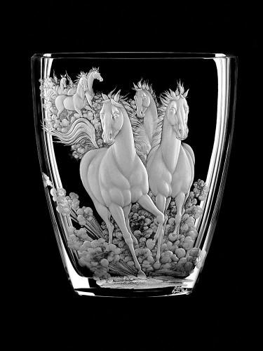 """Vase """"Galopp"""", 24 cm"""