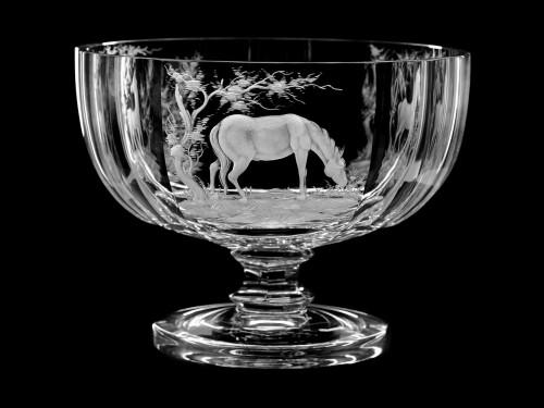 "Ваза-чаша  круглая ""Лошади"", 23 см"