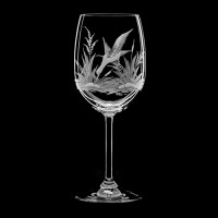 "Wine glass set ""Birds"", 250 ml"