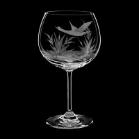 "Wine glass set ""Birds"", 460 ml"