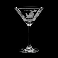 "Martini glass set ""Birds"", 180 ml"