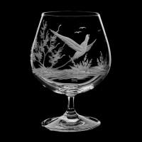 """Cognac glass set """"Birds"""", 400 ml"""