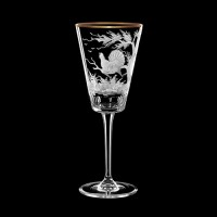 "Wine glass set ""Birds"", 240 ml"