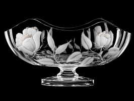 "Oval vase-bowl ""Flowers"", 23 cm"