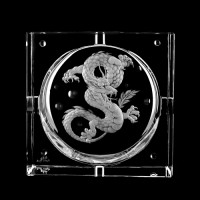 "Ashtray ""Dragon"", 14,5 x 14,5 cm"