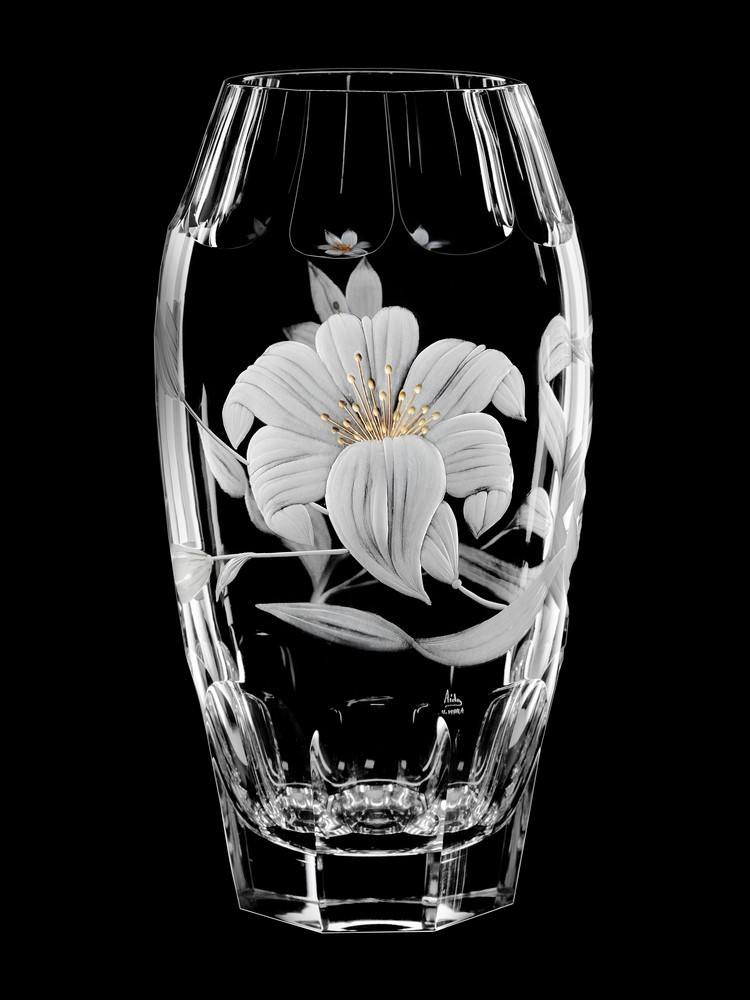 Vase Flowers 275 Cm Aida Hand Made Crystal Czech Republic