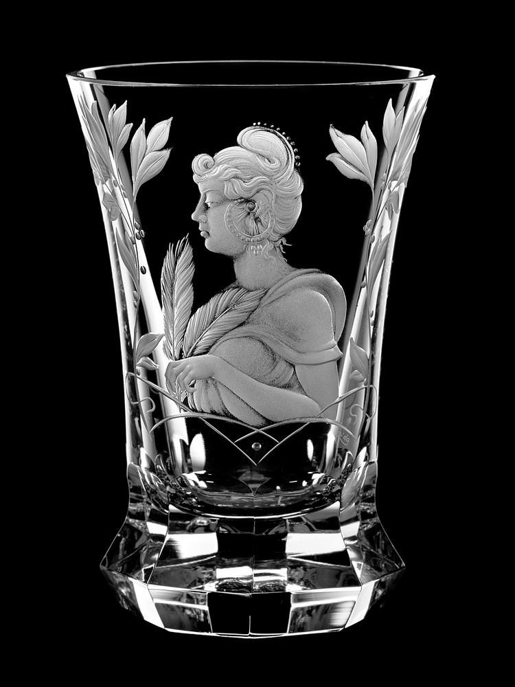 Vase Mucha Aida Hand Made Crystal Czech Republic Vases Wine